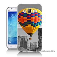 Teknomeg Samsung Galaxy J7 Kılıf Kapak Renkli Uçan Balon Baskılı Silikon