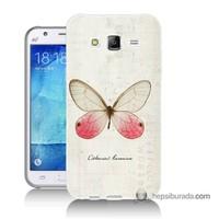 Teknomeg Samsung Galaxy J7 Kapak Kılıf Kelebek Etkisi Baskılı Silikon
