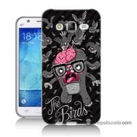 Teknomeg Samsung Galaxy J7 Kılıf Kapak The Birds Baskılı Silikon