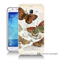 Teknomeg Samsung Galaxy J7 Kapak Kılıf Kelebekler Baskılı Silikon