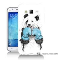Teknomeg Samsung Galaxy J7 Kılıf Kapak Boksör Panda Baskılı Silikon