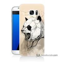 Teknomeg Samsung Galaxy S7 Edge Kapak Kılıf Kavgacı Panda Baskılı Silikon