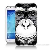 Teknomeg Samsung Galaxy J5 Kılıf Kapak Maymun Baskılı Silikon