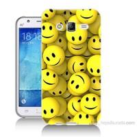 Teknomeg Samsung Galaxy J5 Kapak Kılıf Smile Baskılı Silikon