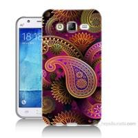 Teknomeg Samsung Galaxy J5 Kapak Kılıf İşlemeli Damla Baskılı Silikon