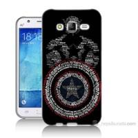 Teknomeg Samsung Galaxy J5 Kapak Kılıf Kaptan Amerika Baskılı Silikon