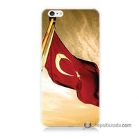 Teknomeg İphone 6 Kılıf Kapak Türk Bayrağı Baskılı Silikon