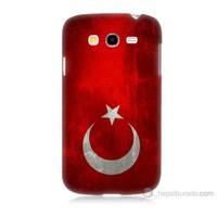 Teknomeg Samsung Galaxy Grand Duos İ9082 Türkiye Bayrağı Baskılı Silikon Kılıf