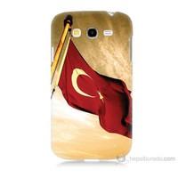 Teknomeg Samsung Galaxy Grand Duos İ9082 Türk Bayrağı Baskılı Silikon Kılıf
