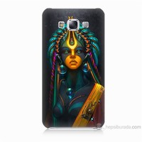 Teknomeg Samsung Galaxy E5 Kapak Kılıf İllustrations Resim Baskılı Silikon