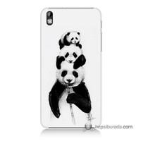 Teknomeg Htc Desire 816 Kapak Kılıf Panda Ailesi Baskılı Silikon