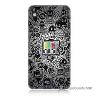 Teknomeg Htc Desire 816 Kapak Kılıf Renkli Tv Baskılı Silikon
