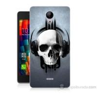 Teknomeg Casper Via E1 Müzik Dinleyen Kurukafa Baskılı Silikon Kapak Kılıf