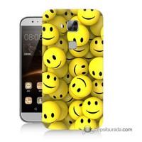 Teknomeg Huawei G8 Kapak Kılıf Smile Baskılı Silikon