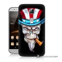 Teknomeg Huawei G8 Kapak Kılıf Sam Amca Baskılı Silikon