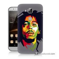 Teknomeg Huawei G8 Kapak Kılıf Bob Marley Baskılı Silikon