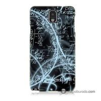 Teknomeg Samsung Galaxy Note 3 Kapak Kılıf Matematik Baskılı Silikon