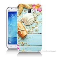 Teknomeg Samsung Galaxy J7 Kapak Kılıf Deniz Kabuğu Baskılı Silikon