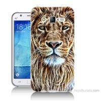 Teknomeg Samsung Galaxy J7 Kapak Kılıf Aslan Yüzü Baskılı Silikon