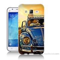 Teknomeg Samsung Galaxy J7 Kapak Kılıf Mavi Vosvos Baskılı Silikon