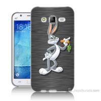 Teknomeg Samsung Galaxy J7 Kapak Kılıf Bugs Bunny Baskılı Silikon