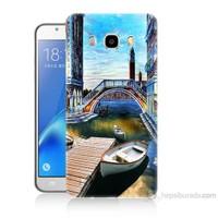 Teknomeg Samsung Galaxy J7 2016 Kapak Kılıf Tekneler Tablo Baskılı Silikon
