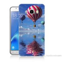 Teknomeg Samsung Galaxy J7 2016 Kapak Kılıf Renkli Balonlar Baskılı Silikon