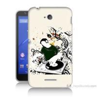 Teknomeg Sony Xperia E4G Disc Jokey Baskılı Silikon Kılıf