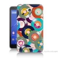Teknomeg Sony Xperia E4G Renkli Plaklar Baskılı Silikon Kılıf