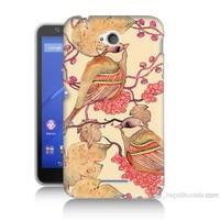 Teknomeg Sony Xperia E4G Kuşlar Baskılı Silikon Kılıf