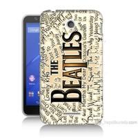 Teknomeg Sony Xperia E4G The Beatles Baskılı Silikon Kılıf