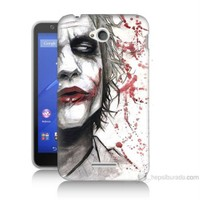 Teknomeg Sony Xperia E4G Kanlı Joker Baskılı Silikon Kılıf