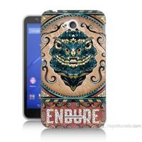 Teknomeg Sony Xperia E4G Endure Baskılı Silikon Kılıf