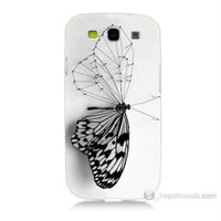 Teknomeg Samsung Galaxy S3 Kanatsız Kelebek Baskılı Silikon Kılıf