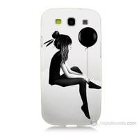 Teknomeg Samsung Galaxy S3 Balonlu Kız Baskılı Silikon Kılıf