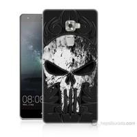 Teknomeg Huawei Ascend Mate S Punnisher Kurukafa Baskılı Silikon Kılıf