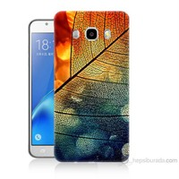 Teknomeg Samsung Galaxy J5 2016 Kapak Kılıf Yaprak Baskılı Silikon