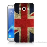 Teknomeg Samsung Galaxy J5 2016 Kapak Kılıf İngiltere Bayrağı Baskılı Silikon