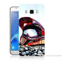 Teknomeg Samsung Galaxy J5 2016 Kapak Kılıf Kask Baskılı Silikon