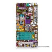 Teknomeg Asus Zenfone 5 Kılıf Kapak Teknoloji Baskılı Silikon