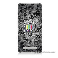 Teknomeg Asus Zenfone 5 Kapak Kılıf Renkli Tv Baskılı Silikon