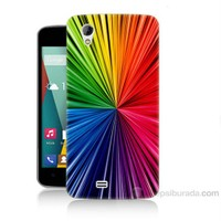 Teknomeg General Mobile Discovery 2 Mini Renkler Baskılı Silikon Kapak Kılıf