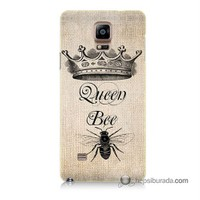 Teknomeg Samsung Galaxy Note 4 Kılıf Kapak Queen Bee Baskılı Silikon