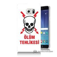 Teknomeg Samsung Galaxy Note 5 Kapak Kılıf Ölüm Tehlikesi Baskılı Silikon
