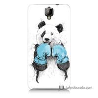 Teknomeg General Mobile Discovery 2 Kılıf Kapak Boksör Panda Baskılı Silikon
