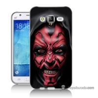 Teknomeg Samsung Galaxy J5 Kılıf Kapak Starwars Güç Uyanıyor Baskılı Silikon