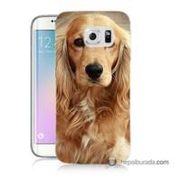 Teknomeg Samsung Galaxy S6 Edge Kapak Kılıf Köpek Baskılı Silikon