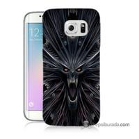 Teknomeg Samsung Galaxy S6 Edge Kılıf Kapak Korku Canavarı Baskılı Silikon
