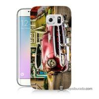 Teknomeg Samsung Galaxy S6 Edge Plus Kapak Kılıf Klasik Araba Baskılı Silikon