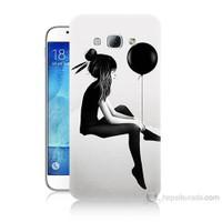 Teknomeg Samsung Galaxy A8 Balonlu Kız Baskılı Silikon Kılıf